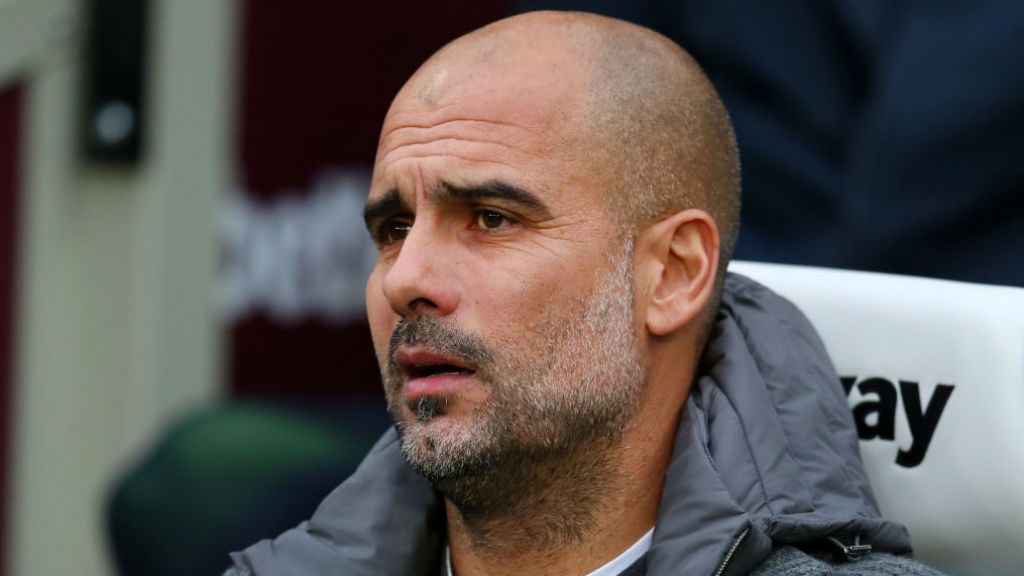 WATCHING BRIEF : Pep Guardiola looks on at the London Stadium