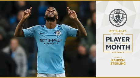 Etihad Player of the Month: Raheem Sterling
