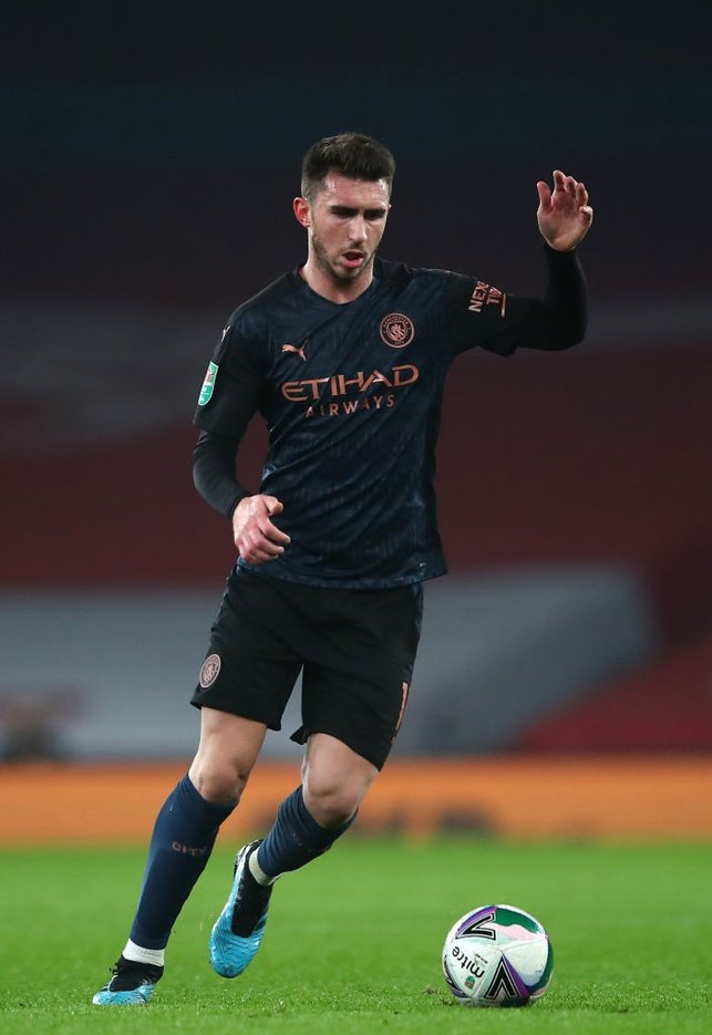 LAPORTEING FOR DUTY: Aymeric Laporte brings the ball out from the back