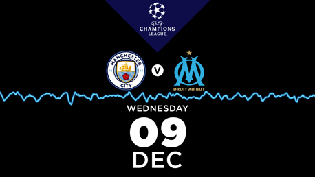 City v Marseille: Listen live on CITY+