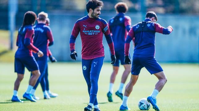 GUNNING FOR GLORY: Ilkay Gundogan prepares for our Wembley clash