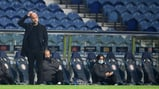 HEAD SCRATCHER: The boss ponders from the sideline