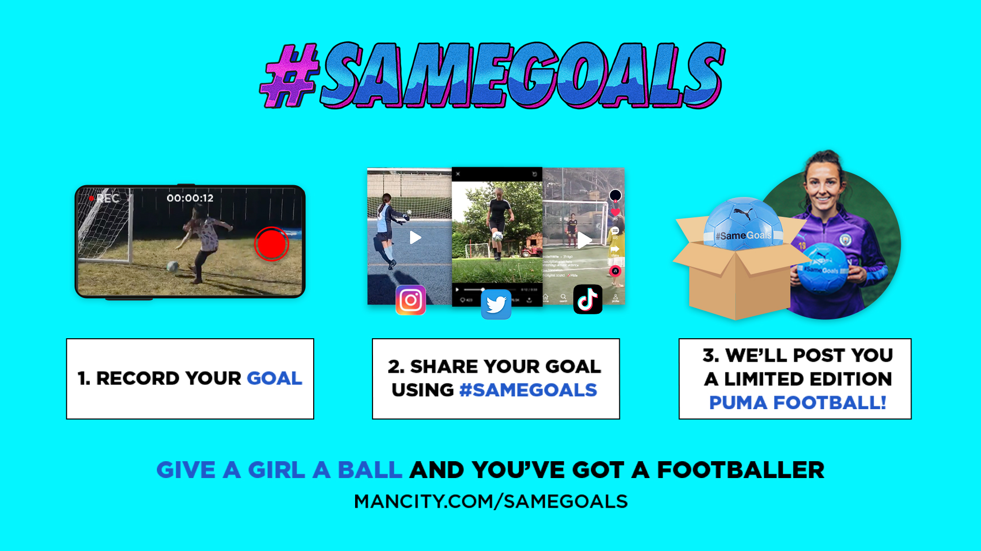 #SameGoals: 'Football is for everyone!'