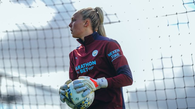 SAFE HANDS: Ellie Roebuck smothers the ball