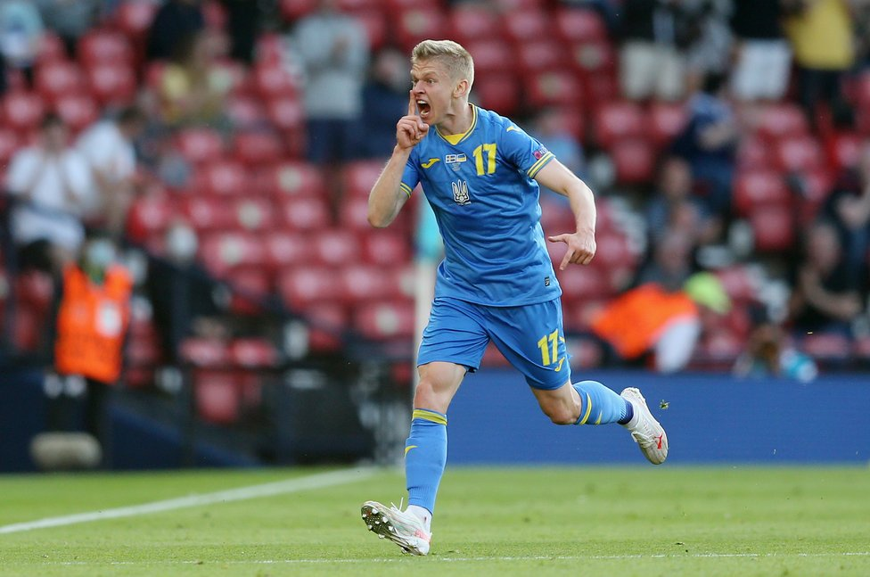 SHINING ZINC : A goal and an assist for Oleks Zinchenko as Ukraine edged Sweden for their first Euro knock-out victory!