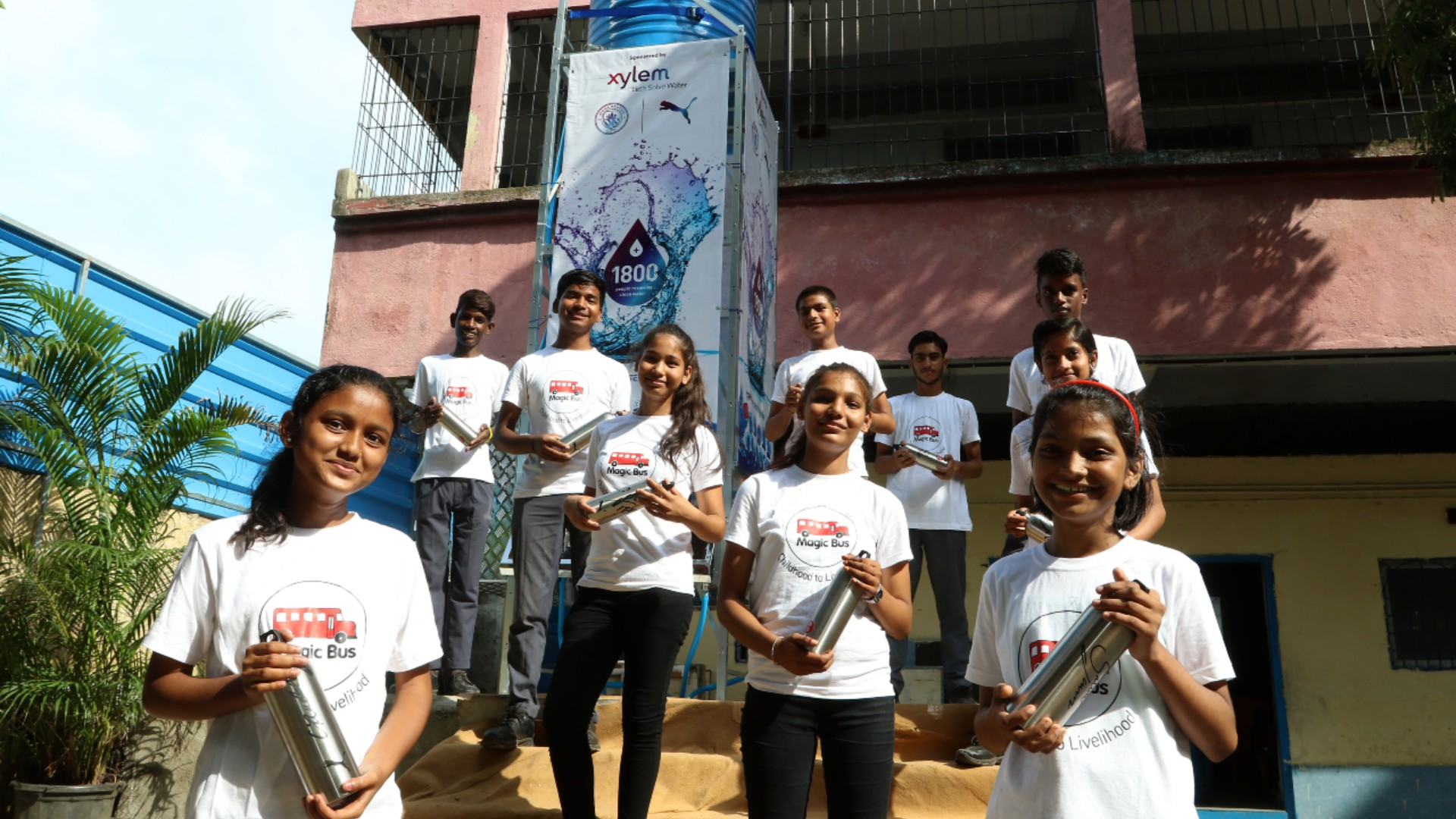 City, PUMA and Xylem build first clean water tower in Mumbai - Manchester City FC