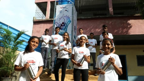 City, PUMA and Xylem build first clean water tower in Mumbai