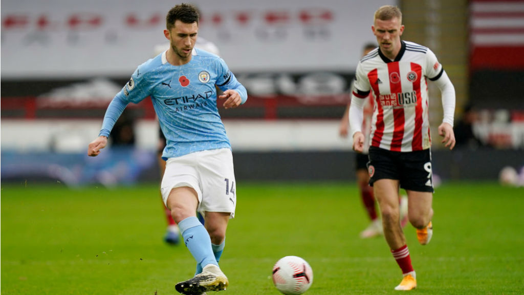 PASS MASTER: Aymeric Laporte looks to get City motoring