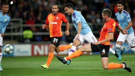 DOUBLE DELIGHT: Ilkay Gundogan strikes for City's second goal