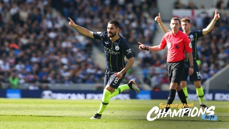 SILKY ILKAY: Gundogan puts the icing on the cake with City's fourth against Brighton