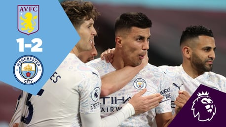 Aston Villa 1-2 City: Full-match replay