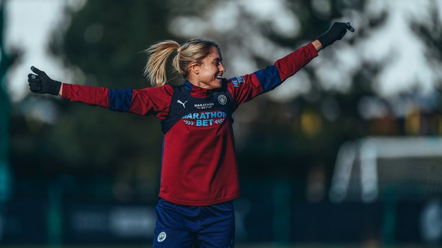 LEADING BY EXAMPLE : Captain Steph Houghton will be leading the troops out for battle