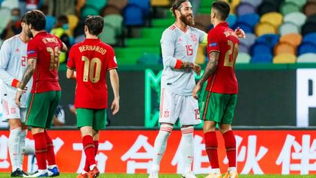 Portugal y España igualan en Lisboa