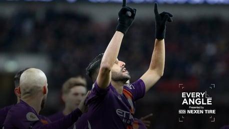 EVERY ANGLE: Enjoy Riyad Mahrez's winner against Tottenham over and over...