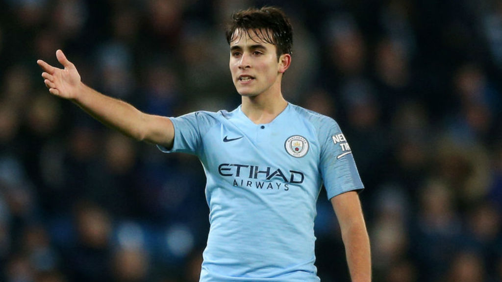 SHINING BRIGHT : Eric Garcia gave an assured display on his first senior start at the Etihad against Burton earlier this month