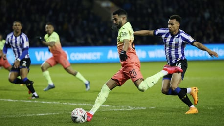 MAGIC MAHREZ: The winger looks to create with his left foot.