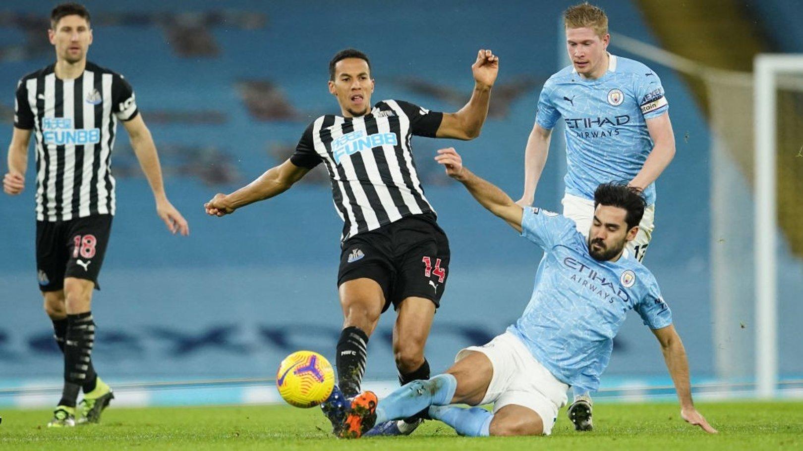 Where can I watch Newcastle v City?