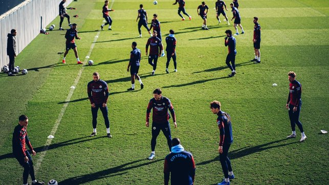 RONDO: The players are put through their paces