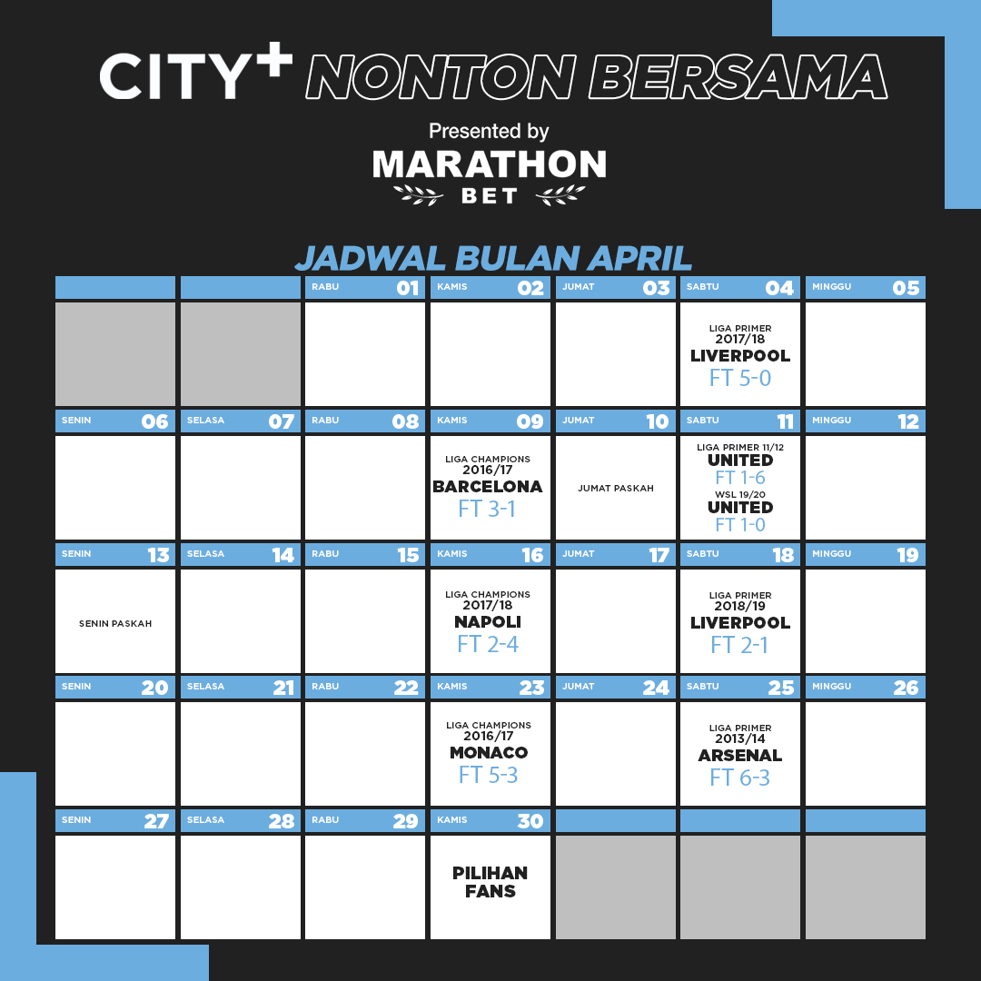 City+ Nonton Bersama: Menyaksikan Ulang Momen Magis City!