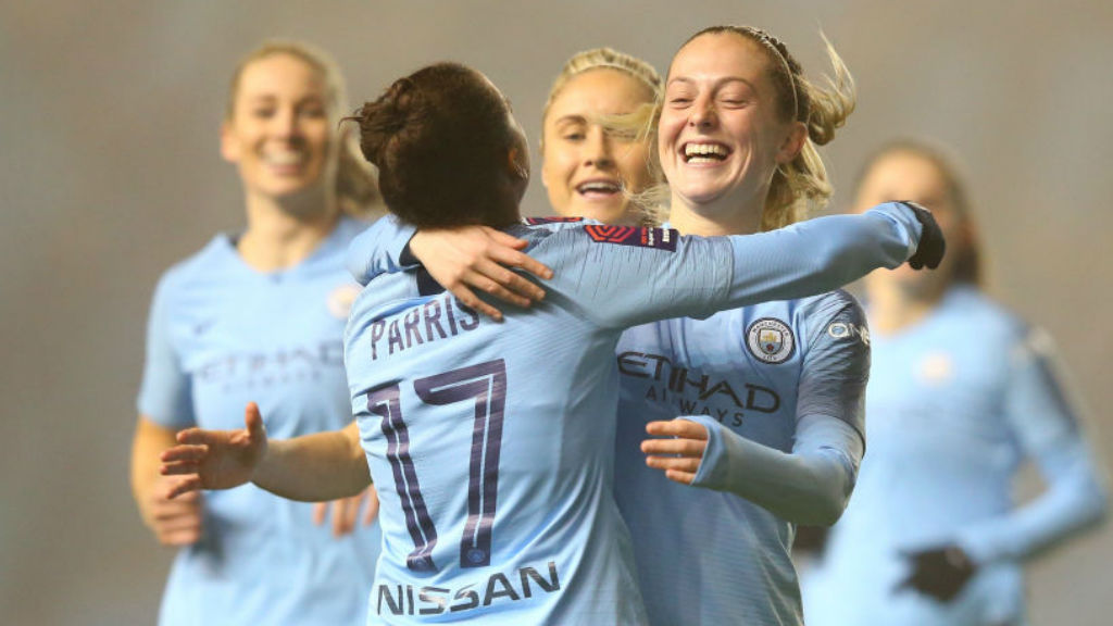 THREE CHEERS : Nikita Parris, Steph Houghton and Keira Walsh have all been shortlisted for the prestigious PFA awards