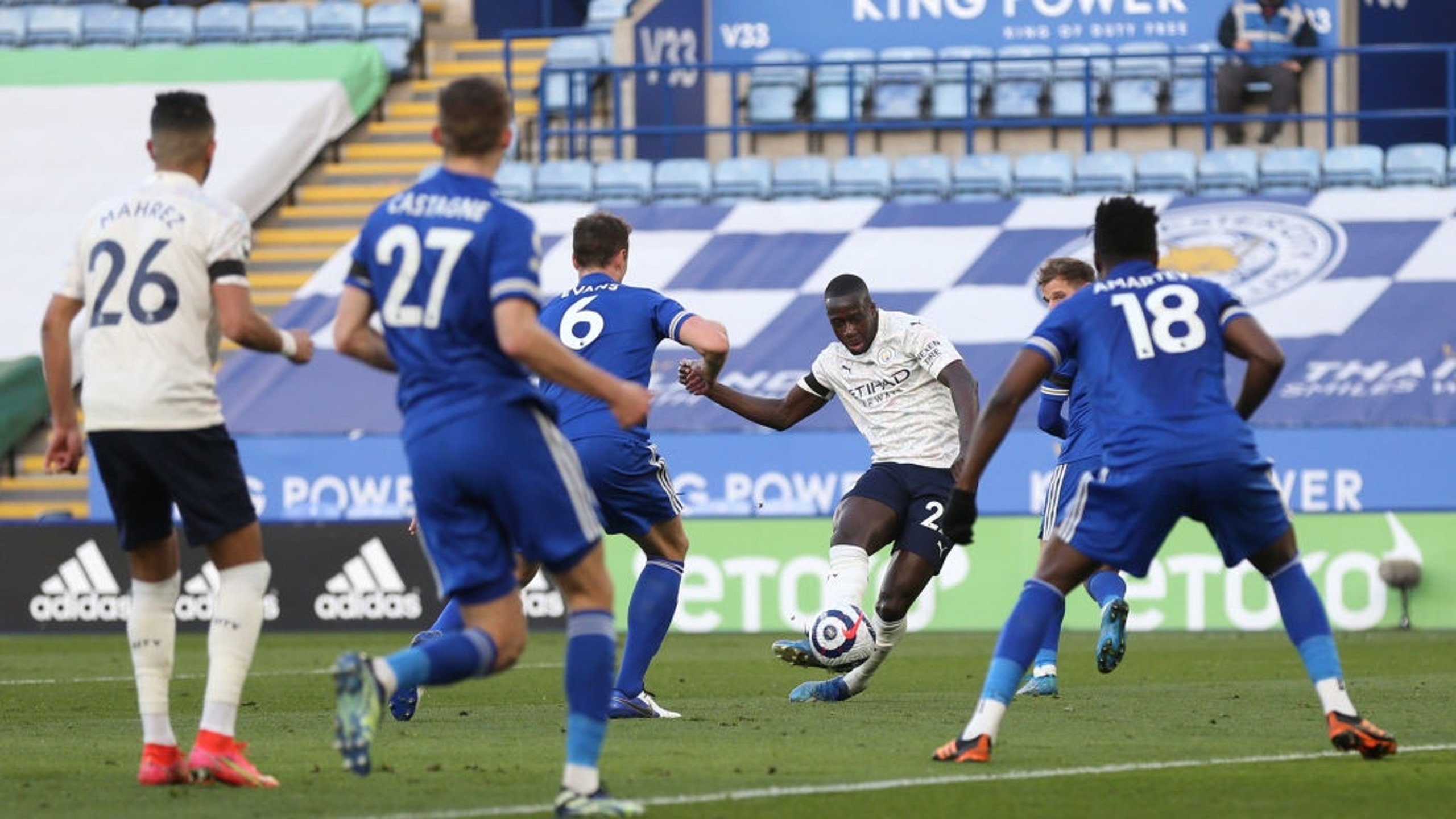 BENDY MENDY: The left-back fabulously curls in the opener just before the hour mark.