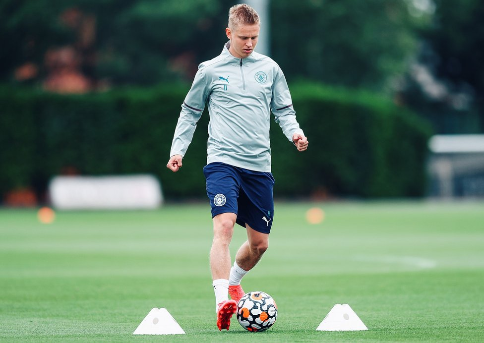 WARMING UP: Oleks Zinchenko gets a feel for the ball