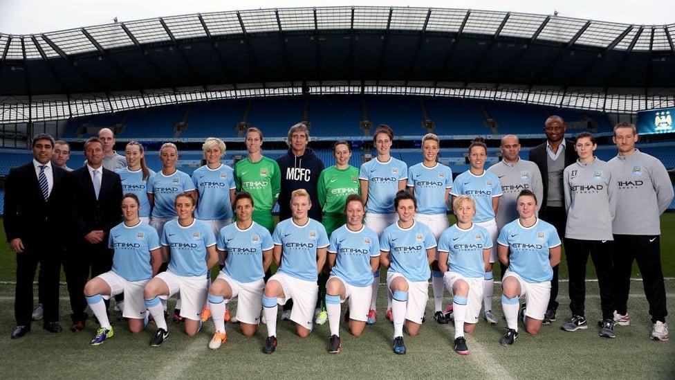 Januari 2014 : Tim Wanita Manchester City diluncurkan kembali dan siap untuk FA Women's Super League yang baru.