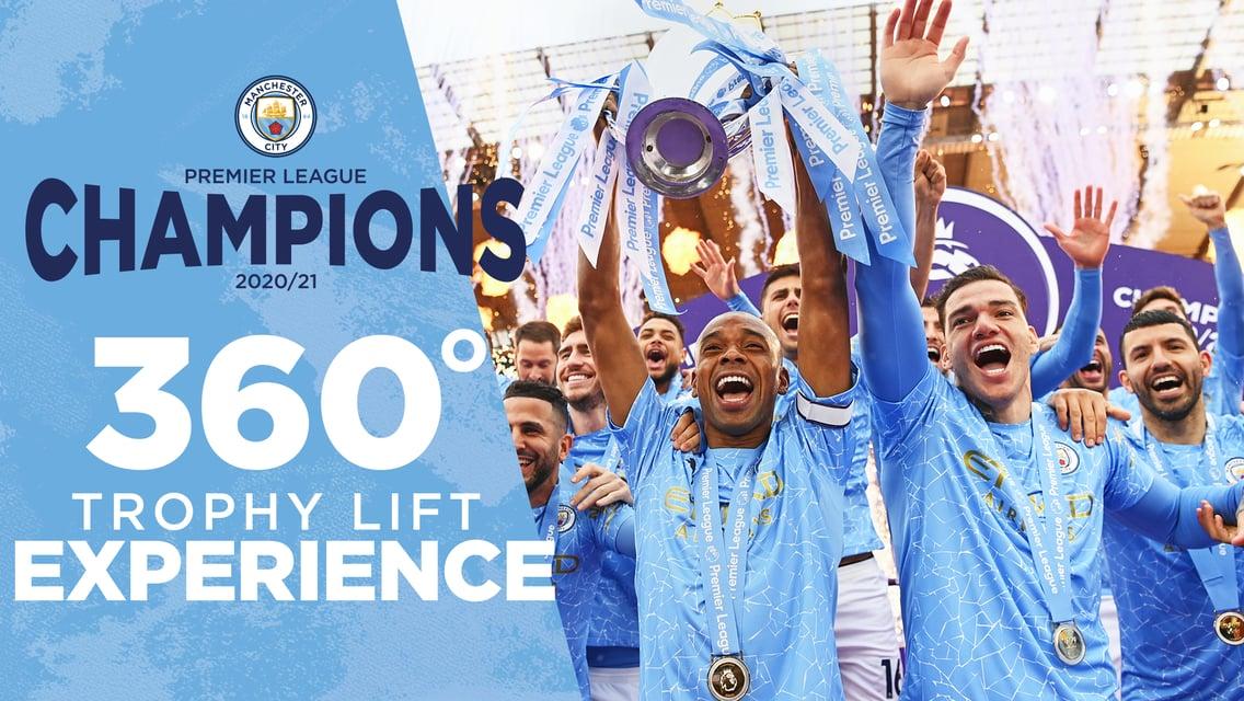Champions   La levée du trophée - 360 degrés !
