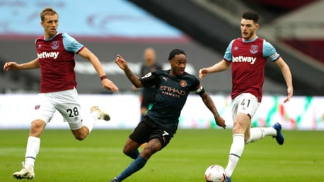 UP AND AT 'EM: Raheem Sterling takes the fight to West Ham