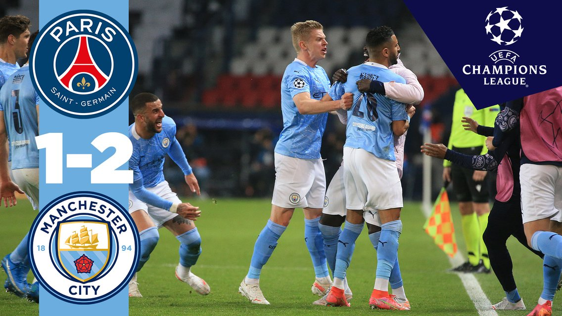 PSG 1-2 City: Match highlights