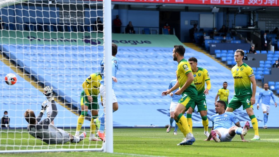 FOX IN THE BOX : Jesus pokes the ball beyond Krul in the 11th minute.