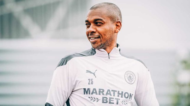 CAPTAIN FANTASTIC : Fernandinho looking calm and collective ahead of another big week.