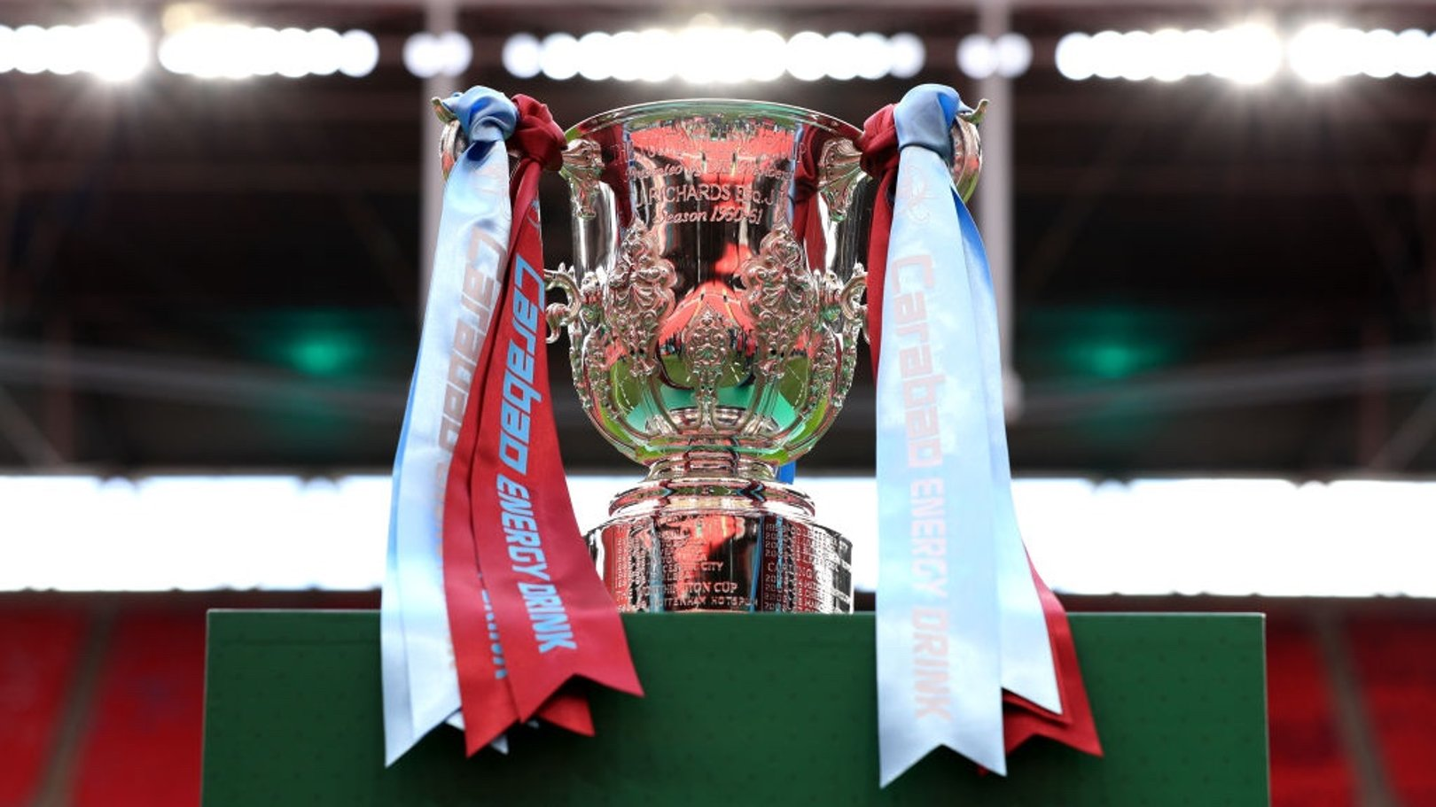 UP FOR THE CUP: The Carabao Cup trophy glistens