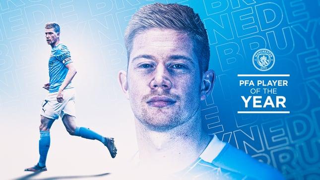 De Bruyne élu joueur de l'année de la PFA