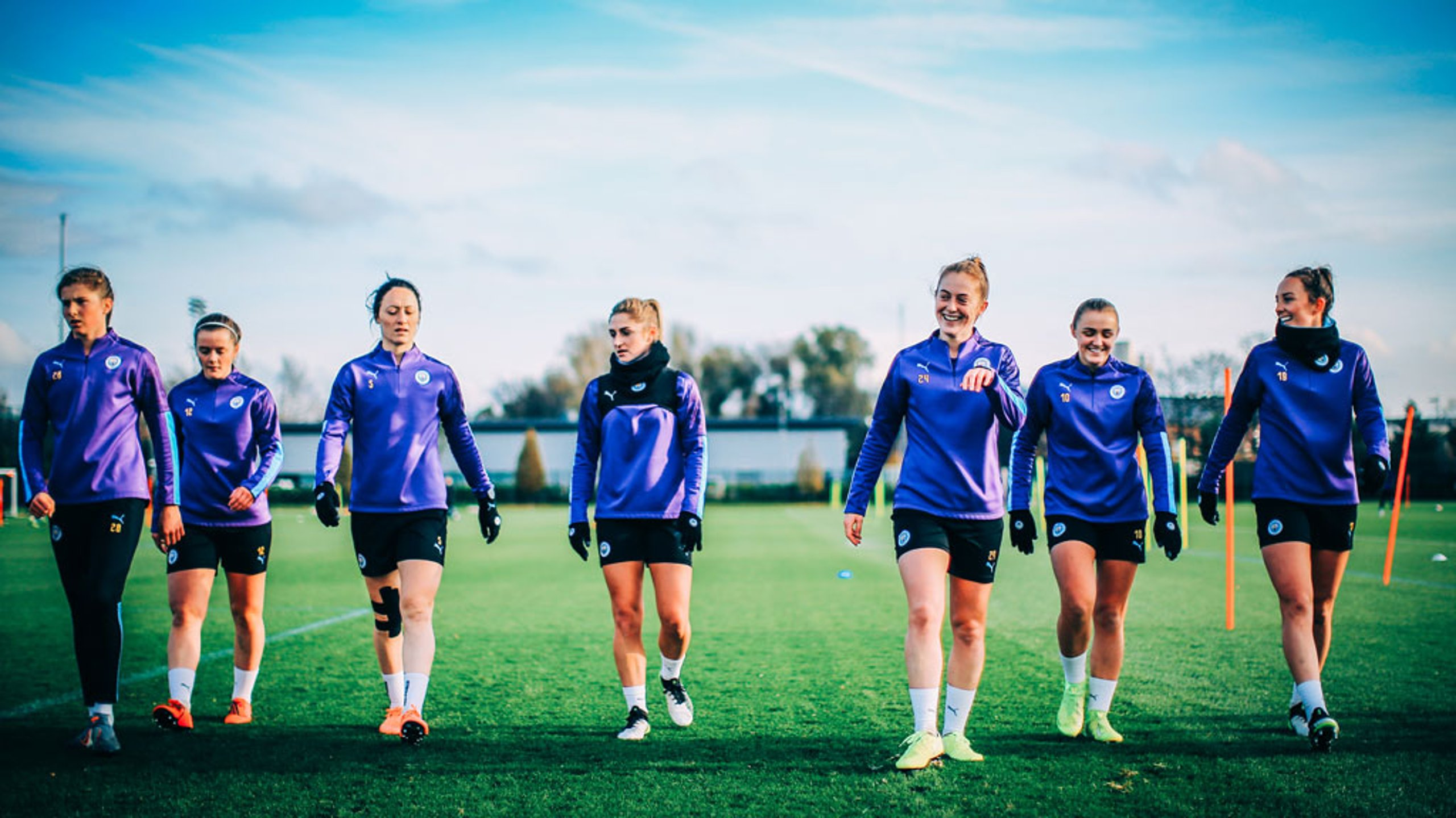 SQUAD GOALS: The City players are focused on Thursday's key Continental Cup trip to take on Everton