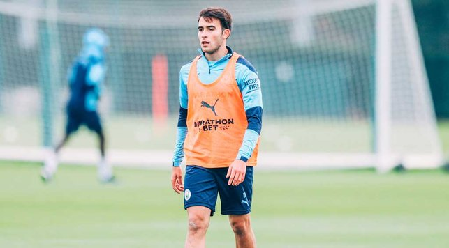 G FORCE: Spanish defender Eric Garcia was a study in concentration