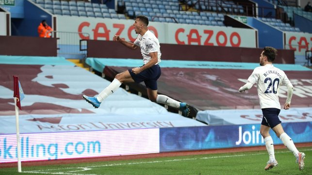 FLYING HIGH : Now that is how you celebrate a goal!