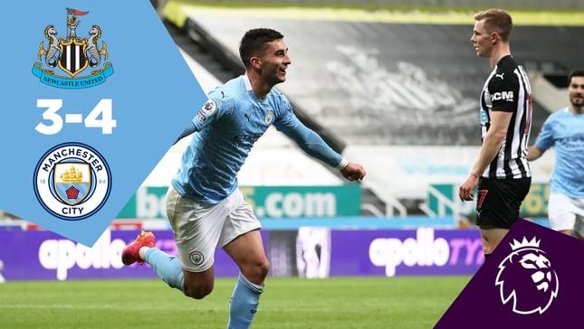 Newcastle 3-4 City: Full-match replay