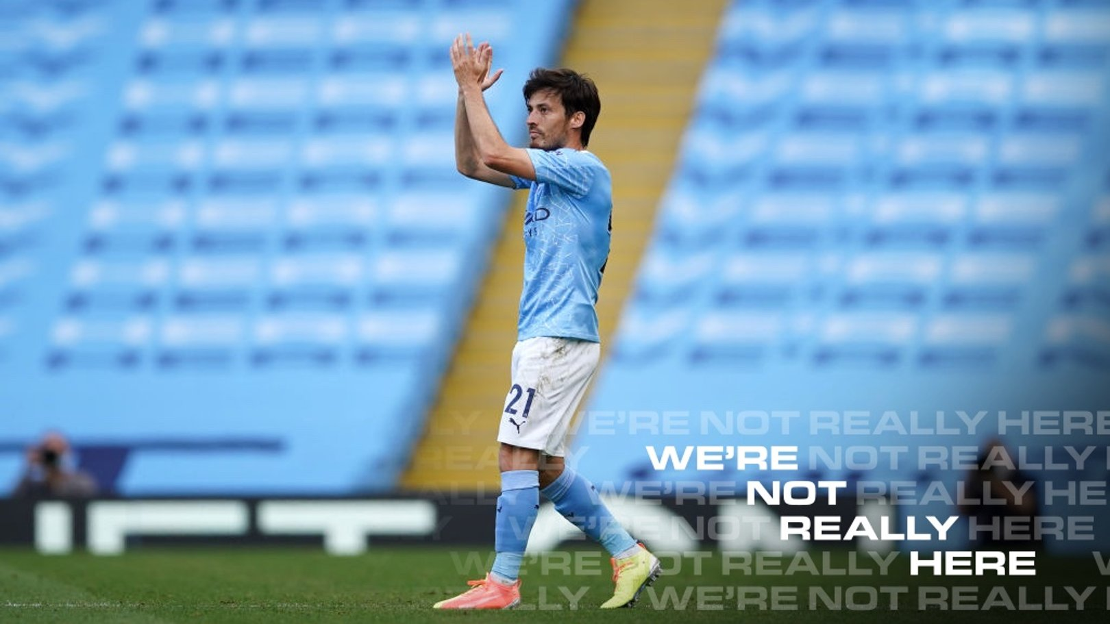 EL MAGO: Silva makes his way off the pitch after his final league appearance for City.