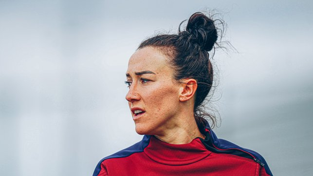 BRONZE IN BATTLE : Lucy Bronze looking ready for the battle ahead.