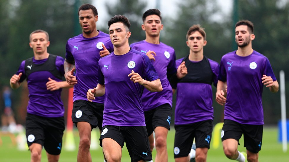 PURPLE REIGN : Manu Garcia leads from the front as the lads get down to work