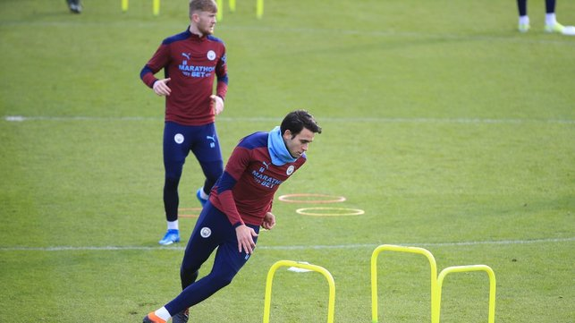 FULL FLIGHT : Eric Garcia shows a turn of pace.