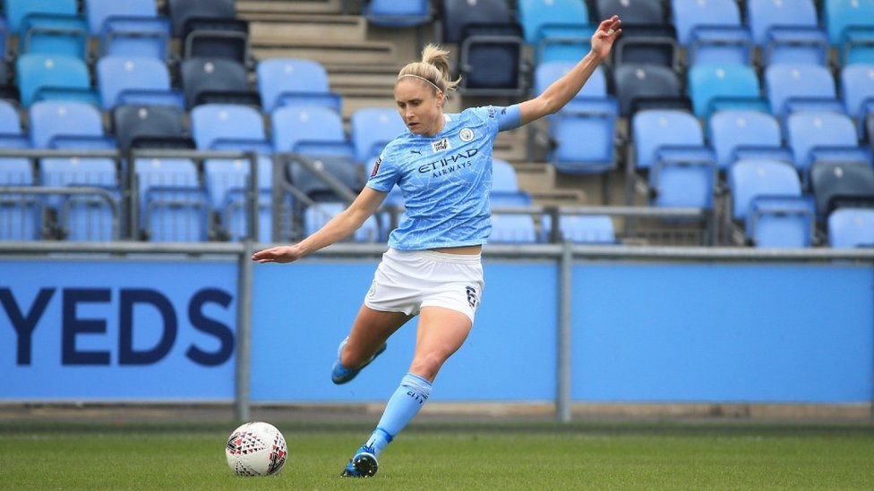 200 NOT OUT: Steph Houghton makes her 200th City appearance as Keira Walsh's late strikes edges out Everton 1-0 at the Academy Stadium.