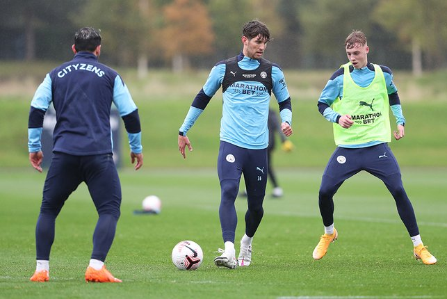 John Stones continues to build up his fitness