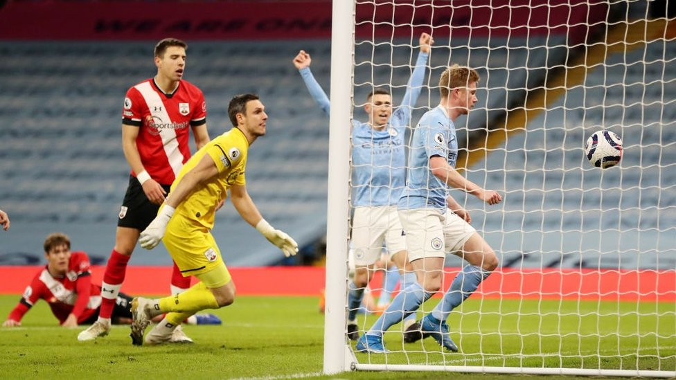BREAKTHROUGH: Kevin De Bruyne puts City ahead from close-range