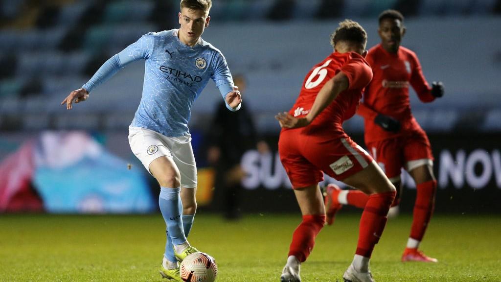 ACTION MAN: Liam Delap runs at the Birmingham defence