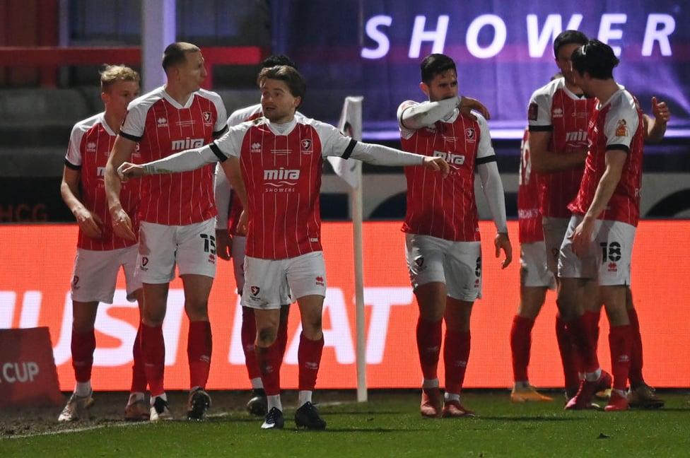 Setback : Alfie May puts Cheltenham ahead