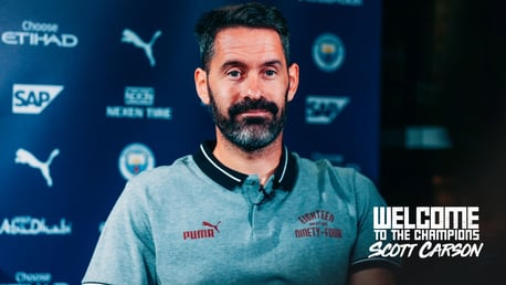 CITY STOPPER: Scott Carson sits down for his first interview as a Manchester City player.