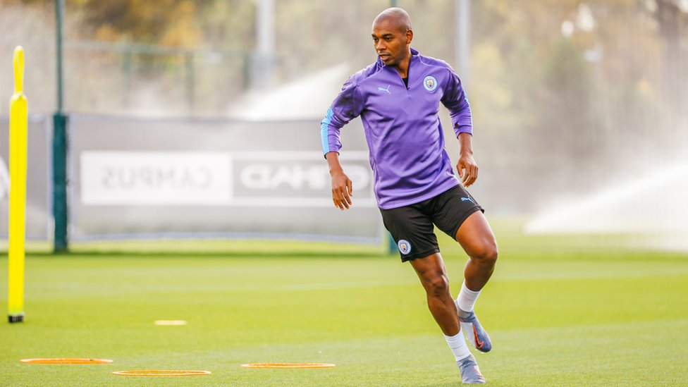 GEARING UP : Fernandinho is put through his paces