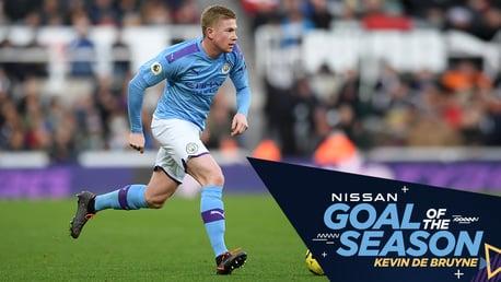 هدف دي بروين أمام نيوكاسل يفوز بجائزة هدف نيسان للموسم!